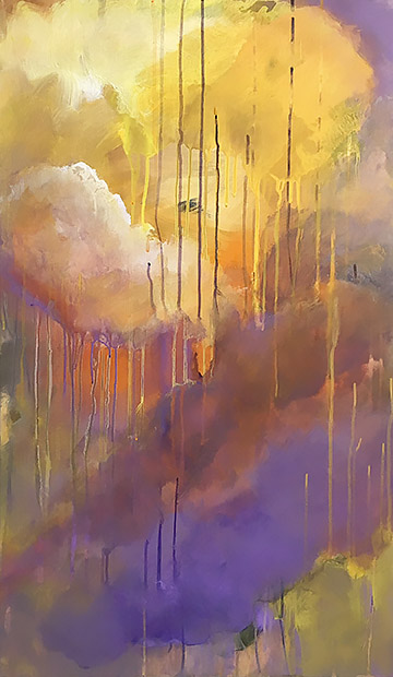 Summer Storm   36 x 20  acrylic on wood panel
