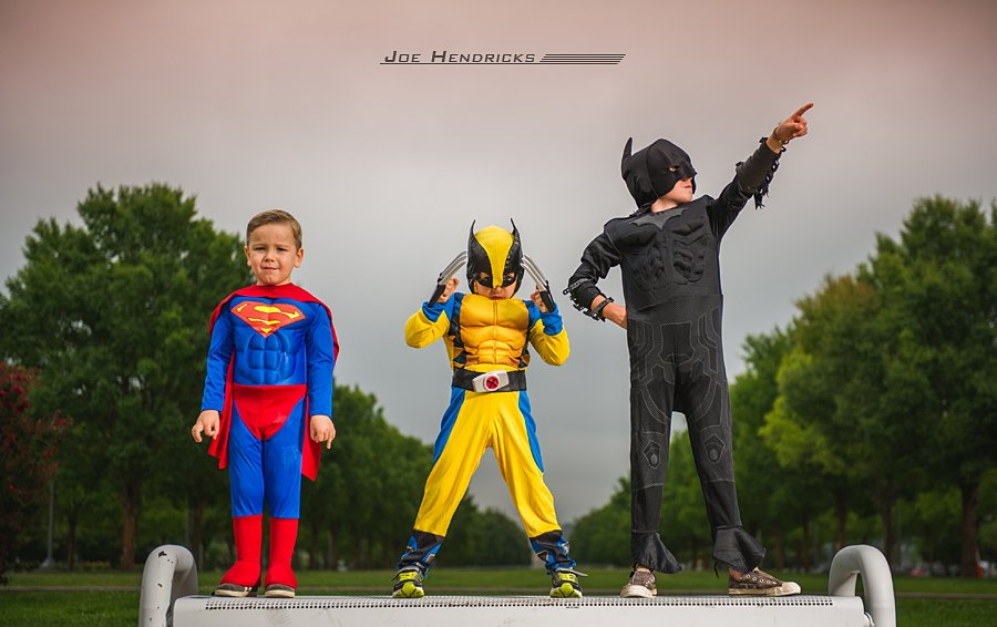 Superman, Wolverine and Batman were kind enough to stop saving the world and do a photo shoot for me!