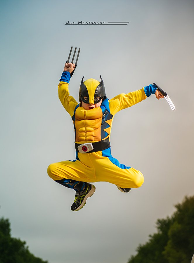 I never knew Wolverine could jump so hi!!