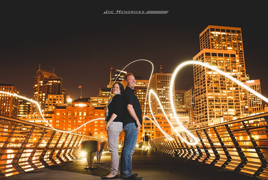 Light Painting, downtown San Francisco