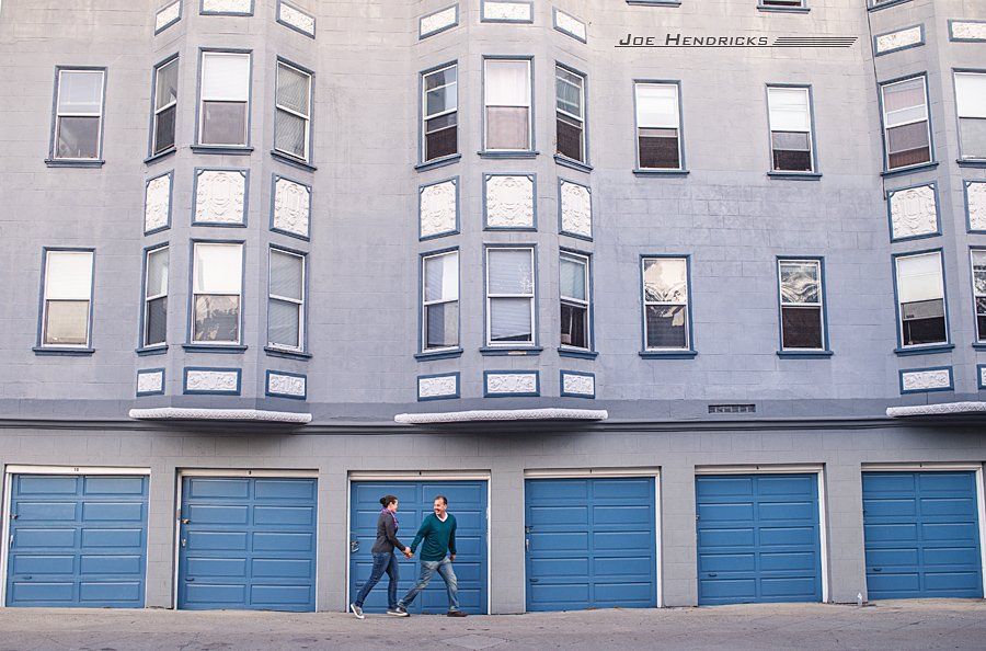 blue garages, San Francisco