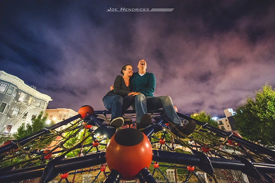 Such a great way to end the engagement session in San Francisco!