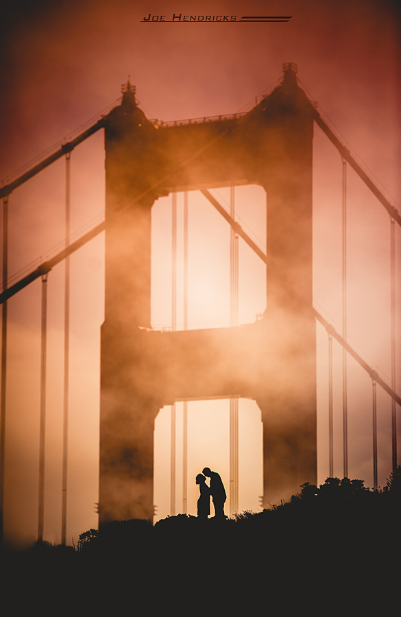 Golden gate bridge engagement photo
