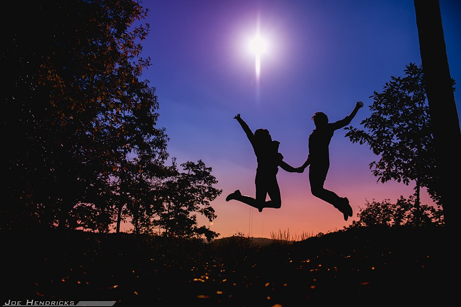 jumping in the air