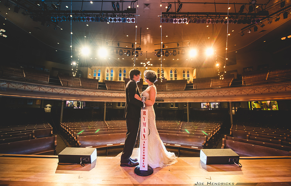The Ryman stage at wedding