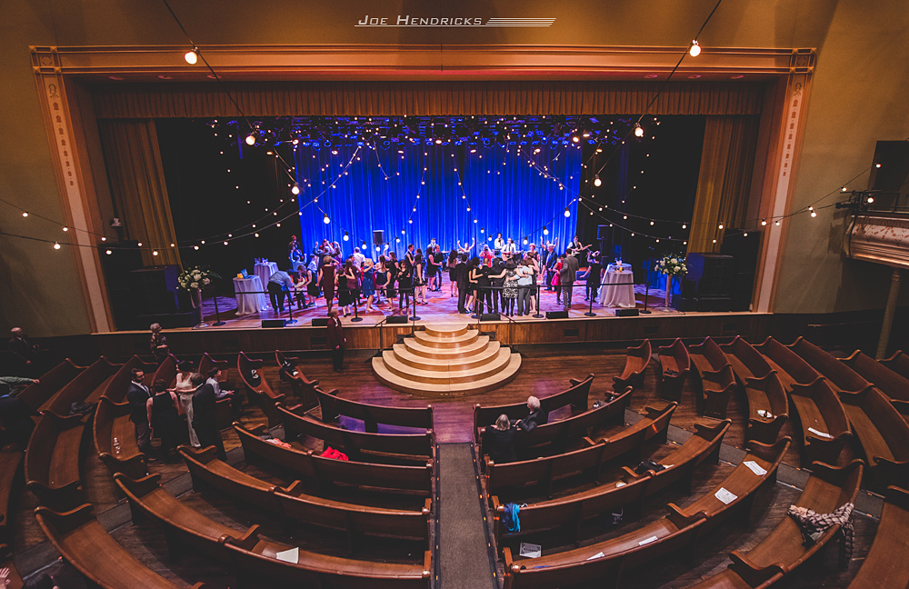 All the dancing happens on the historic stage of the Ryman