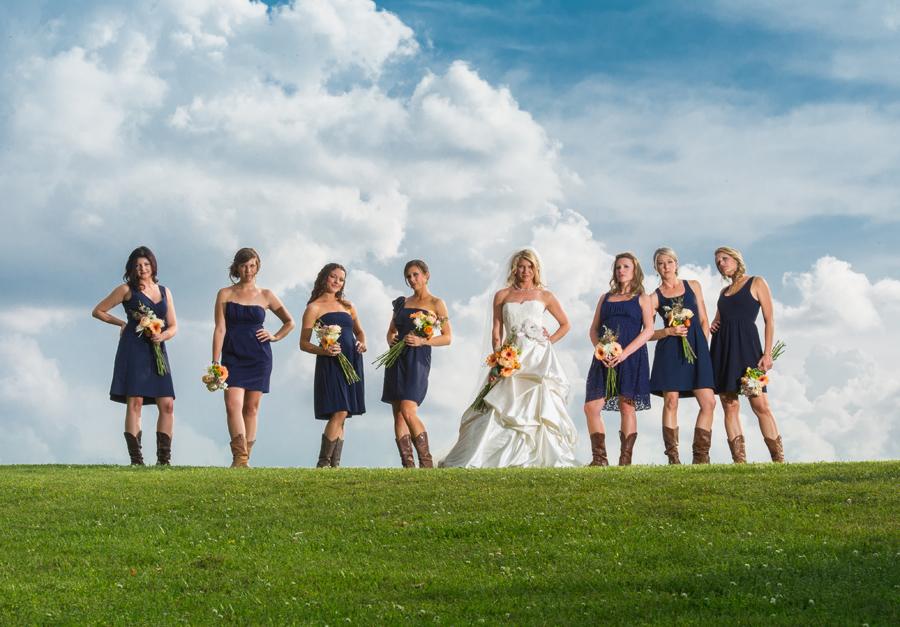 Wedding party with attitude