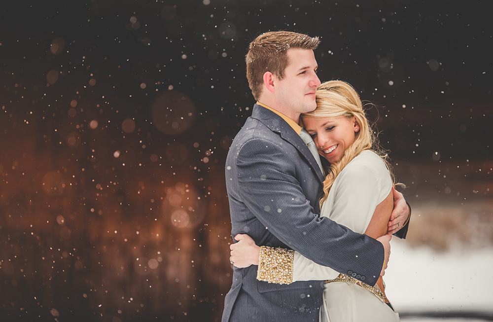 wedding in the snow, nashville TN