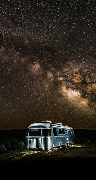 Airstream Under Milkyway Creative Photography Coach