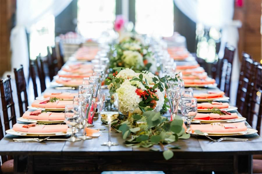 The head table was especially lovely. Photo credit -  Lisa Boggs