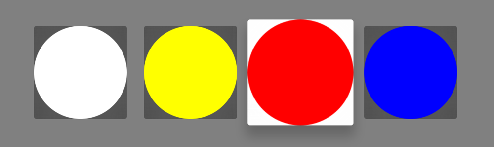 The system-standard UIButton looks awful with circular images.