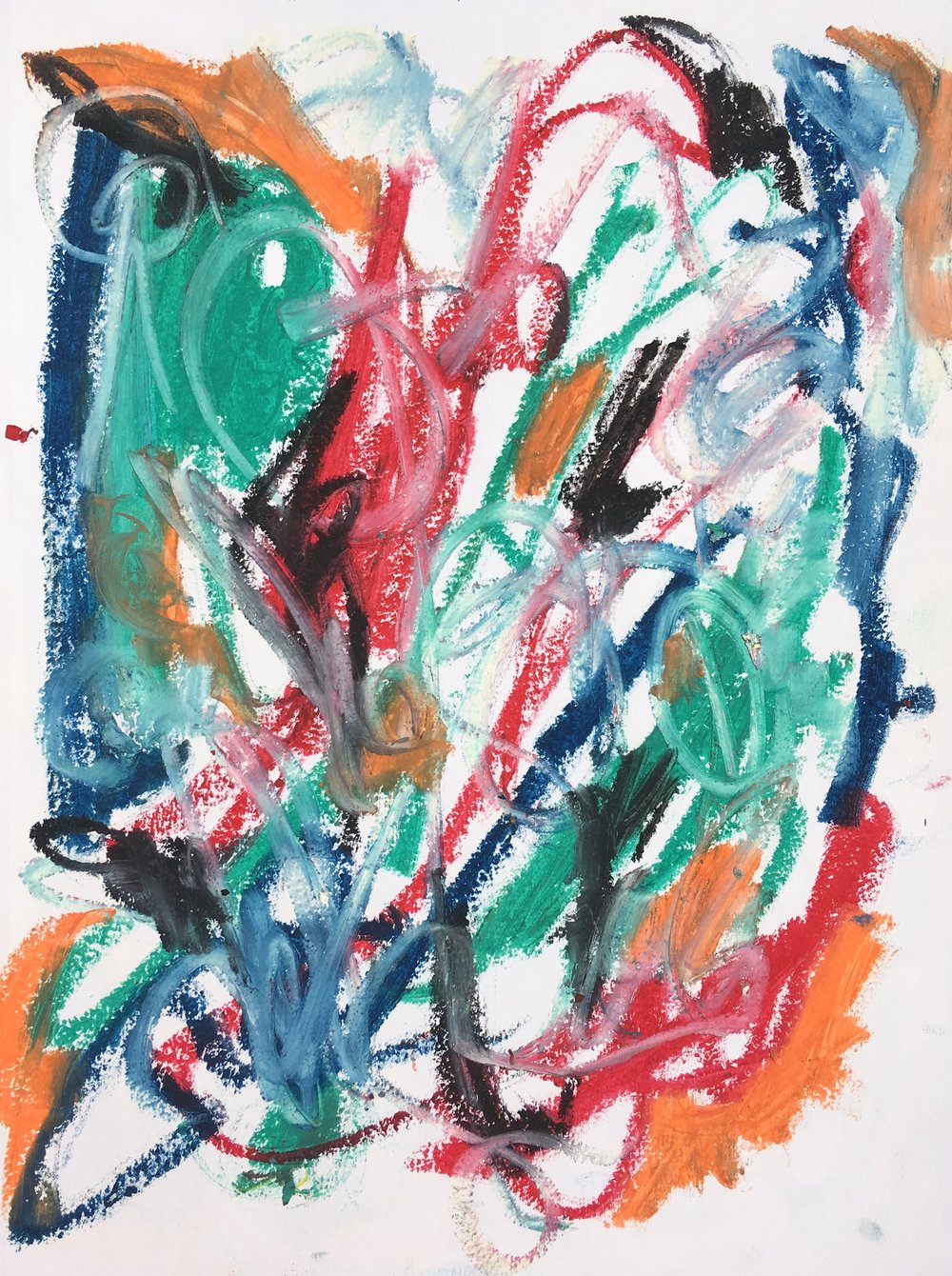 "oil stick on paper 11"" x 14"""