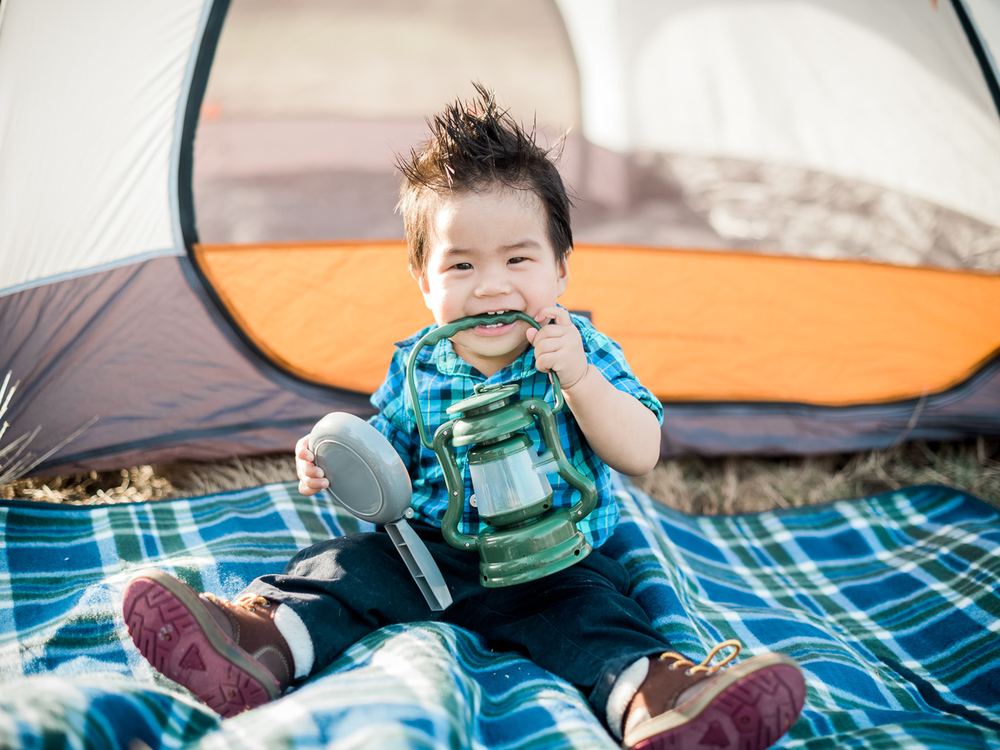 Toddler Camping Outdoors Themed Family Portrait Photography San Diego rancho penasquitos reserve