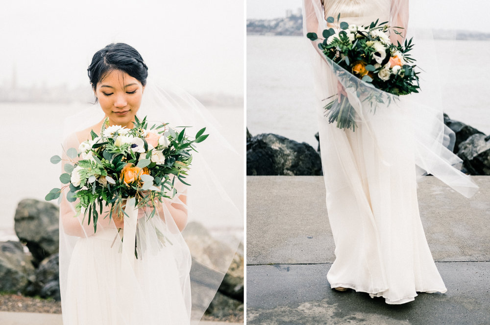 rainy san francisco bay wedding