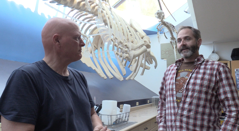 Phil and I in the Whale Lab