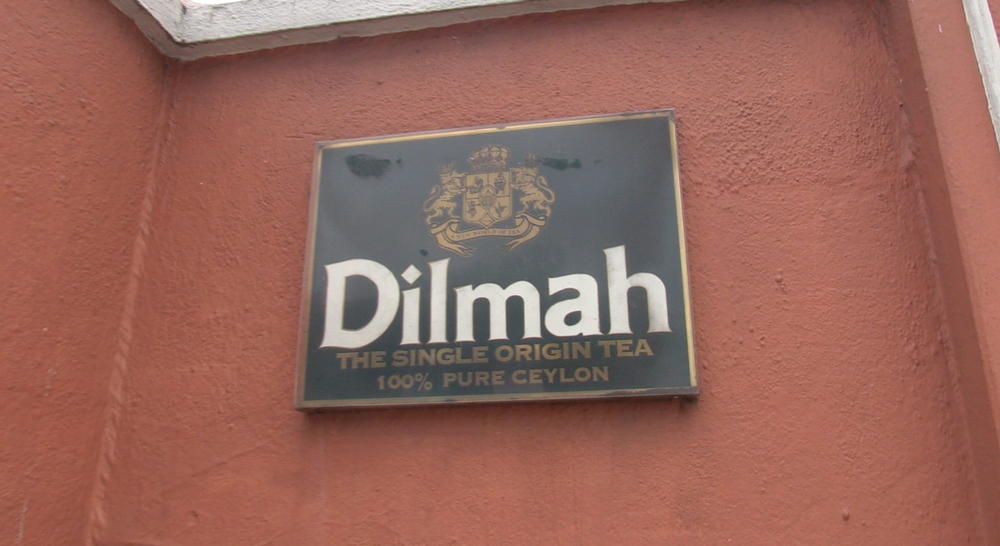 Outside Dilmah head office in Colombo