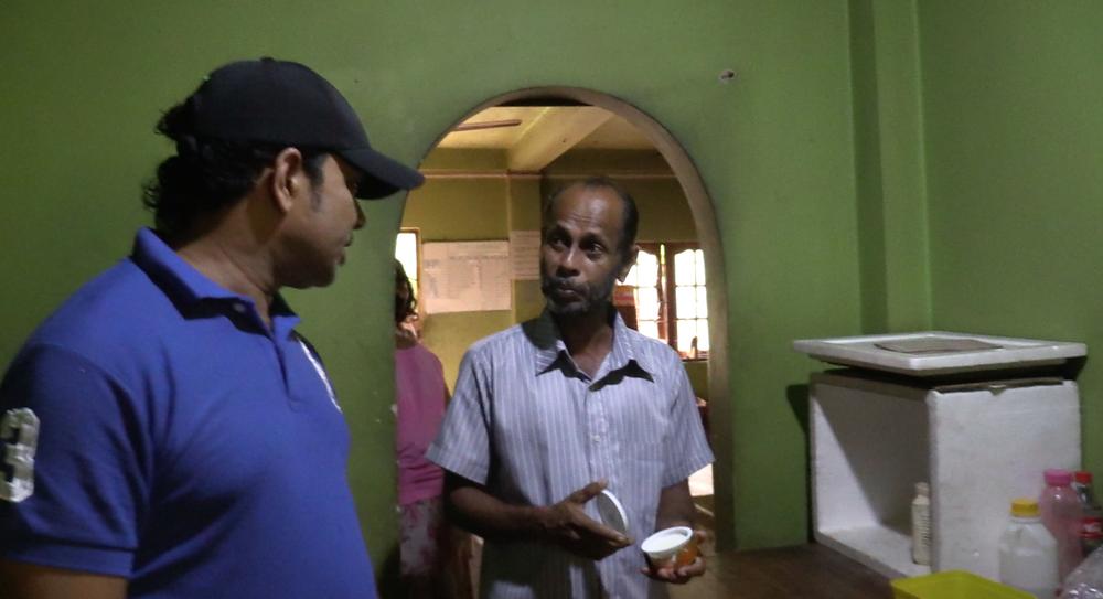 Sumith explaining the Yoghurt making process