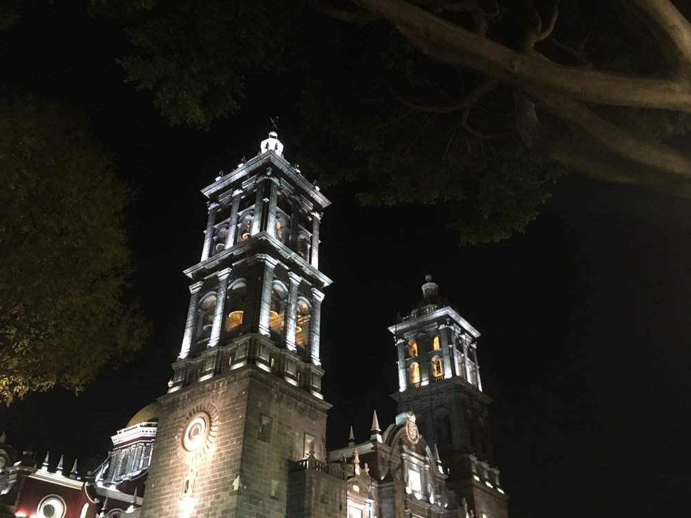 The cathedral at Puebla