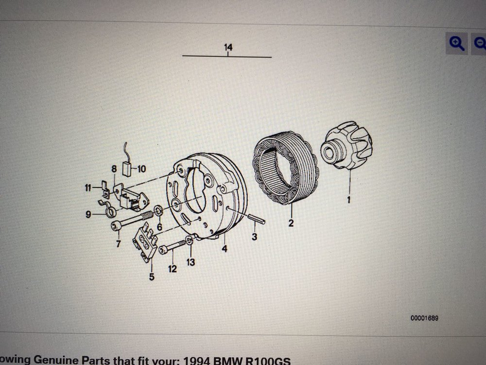 BMW parts list - alternator