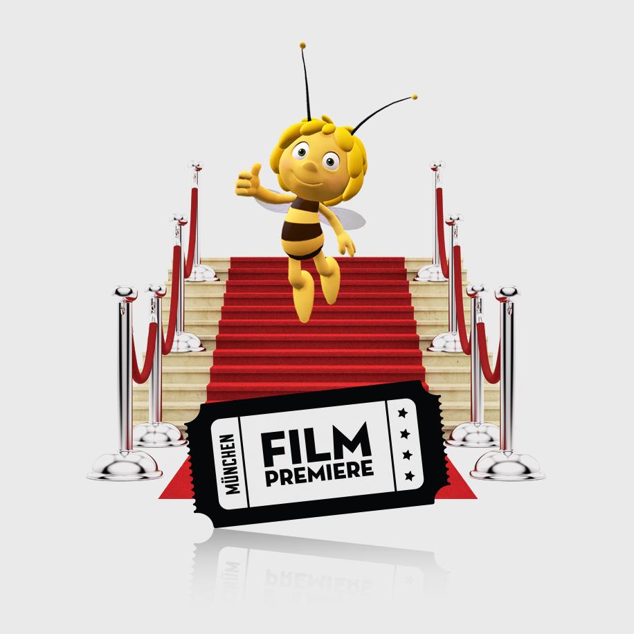 """Du fährst mit deiner ganzen Familie (max. vier Personen) zu der Film Premiere von""""Die Biene Maja - Der Kinofilm""""am 07. September 2014 in München. Die Anreise erfolgt kostenlos mit der Deutschen Bahn innerhalb Deutschlands."""
