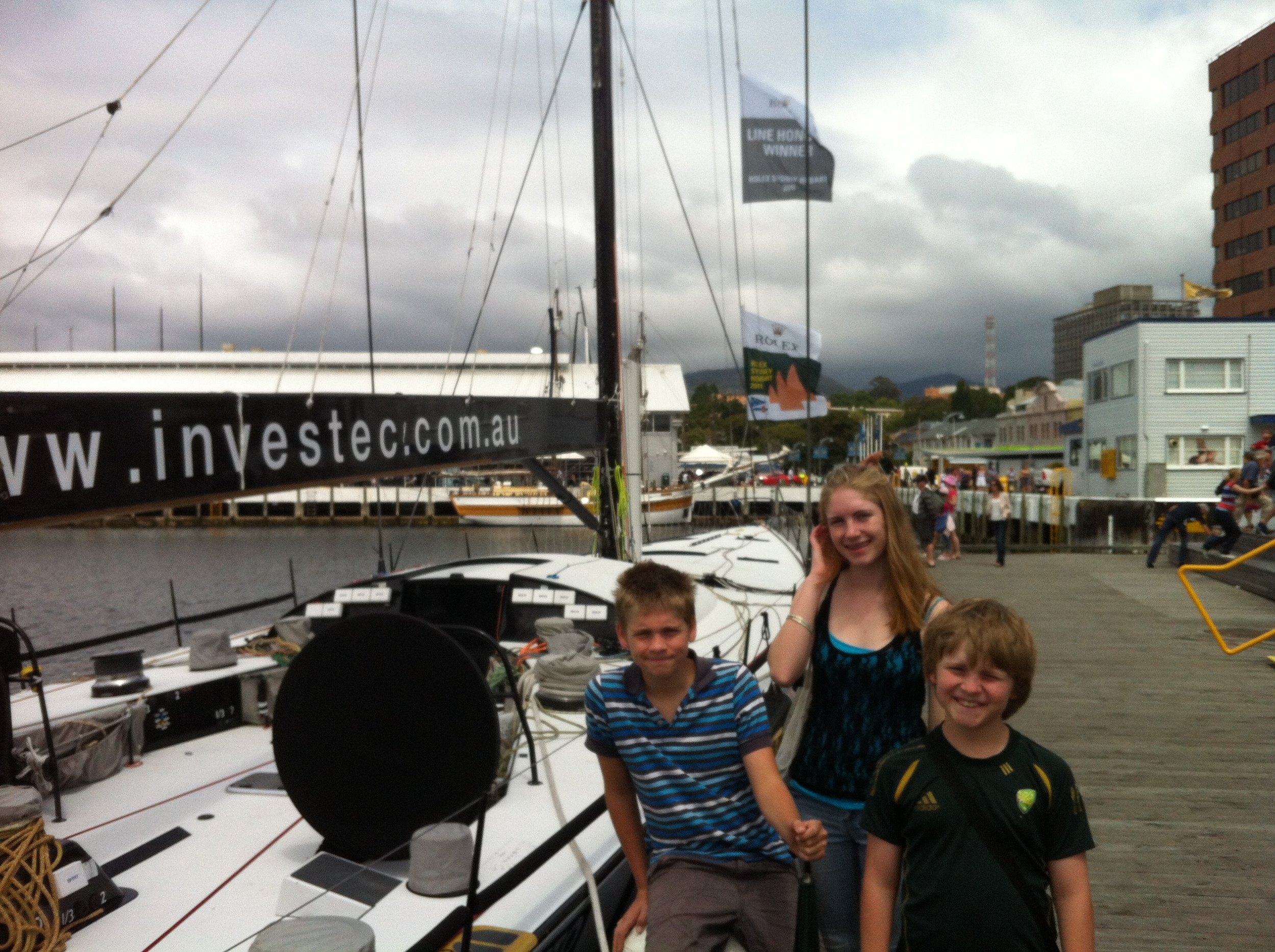 Investec Loyal at Hobart Wharf