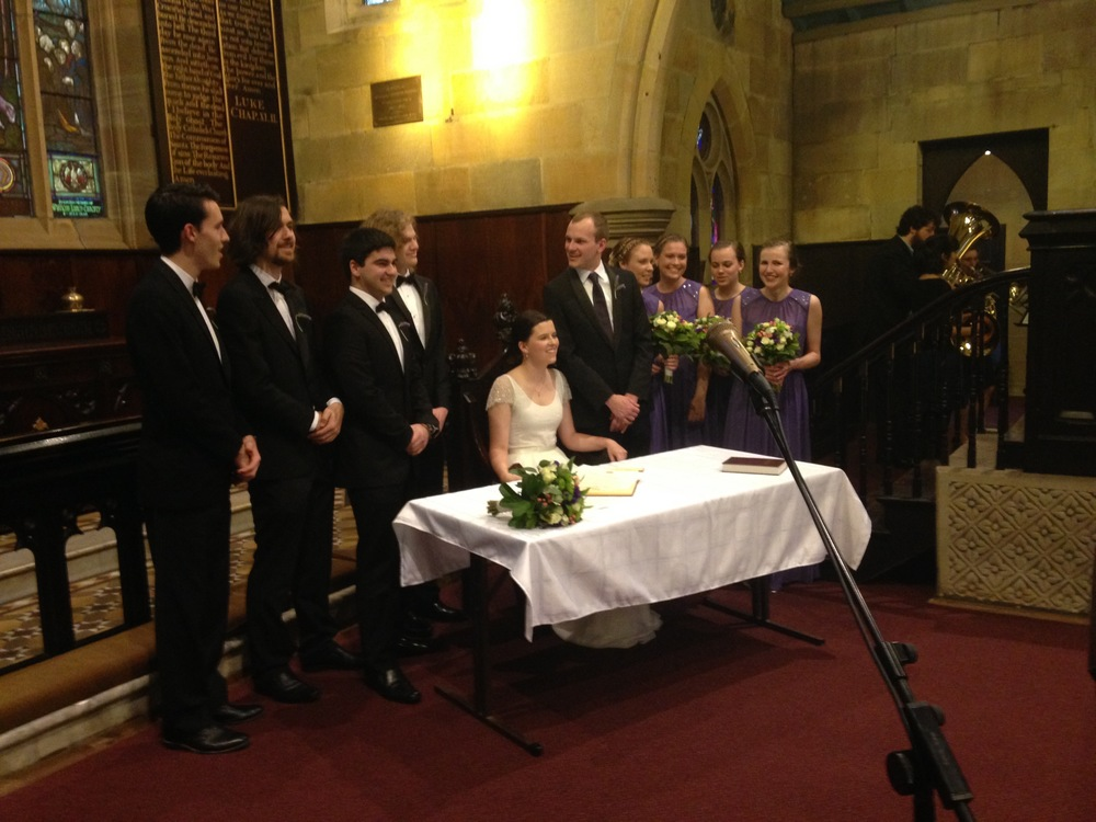 Zachary Anderson and Jessica Kesby married today at St Michael's Surry Hills