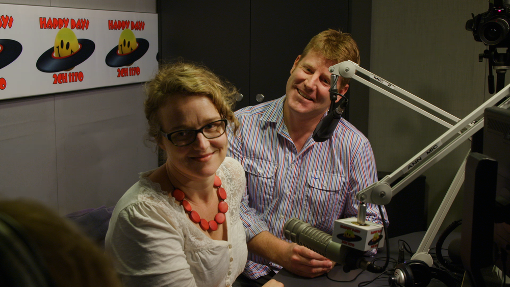Cath Peeters and Otto Peeters in the 2CH Studios at Pyrmont
