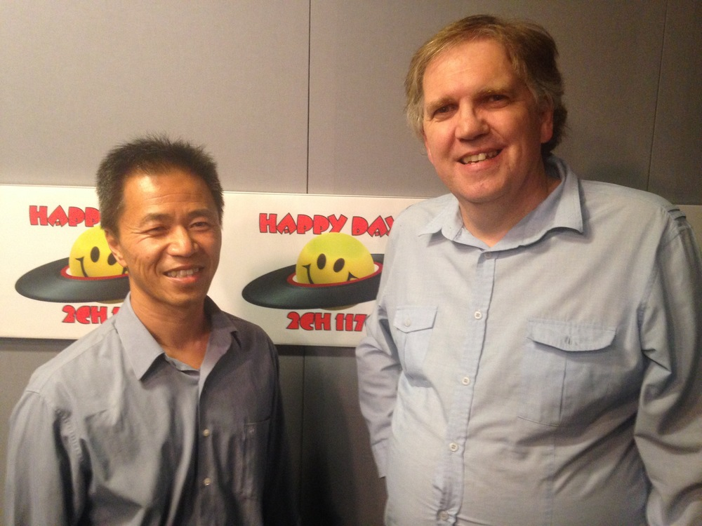 Richard Chin and Dominic Steele at the 2CH Studios