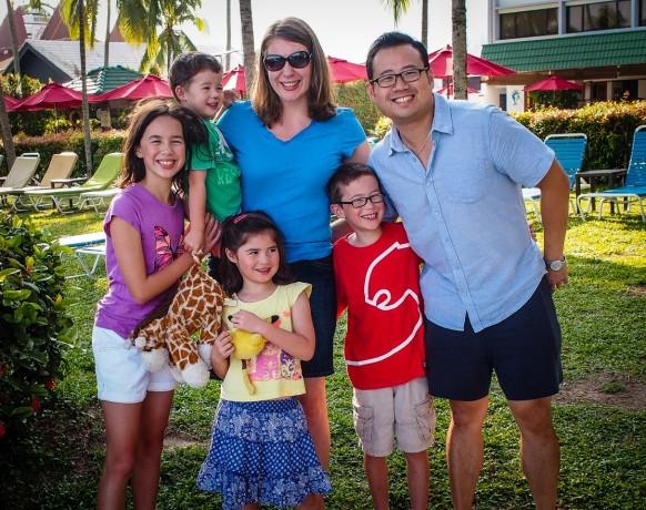 Peter & Karen Ko and kids