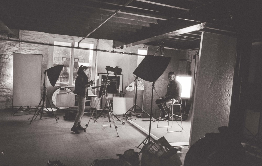 Behind the scenes on 'Champion' shot on 35mm film - see you knew I'd get some old school film action in here somehow ;)