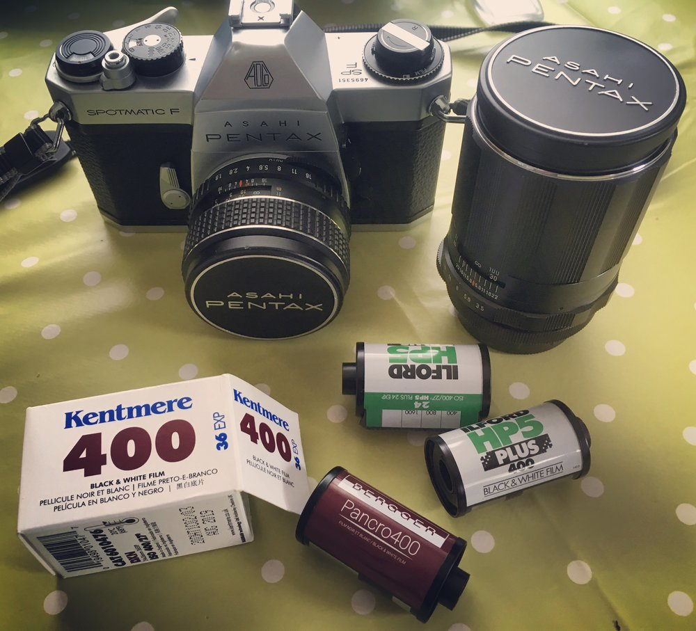 The Pentax Spotmatic F with a few of the other rolls I ran through this amazing machine recently, my new fav camera to shoot with, I mean it!