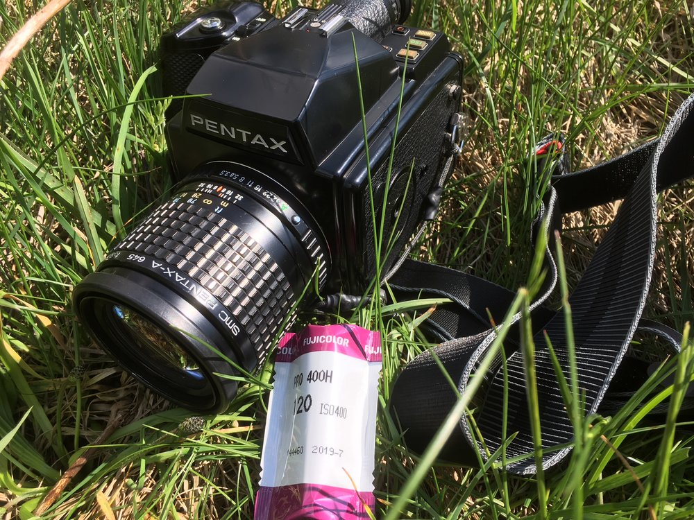 Seen here lurking in it's natural environment -the pentax 645 sneaks up on an unsuspecting roll of Fuji pro 400H.....