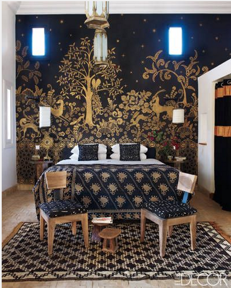 M.Montague - Tribal Chic for the Modern Nomad - Golden Gazelle room at Peacock Pavilions, Marrakech, Morocco
