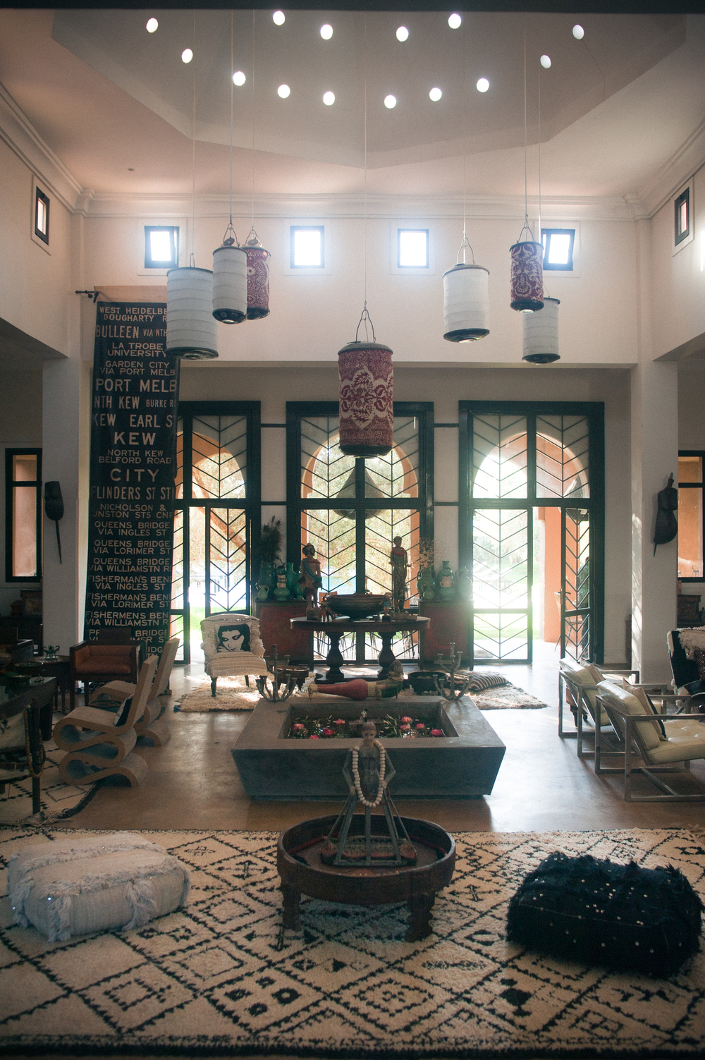 M.Montague - Tribal Chic for the Modern Nomad - Grand Salon at Peacock Pavilions, Marrakech, Morocco