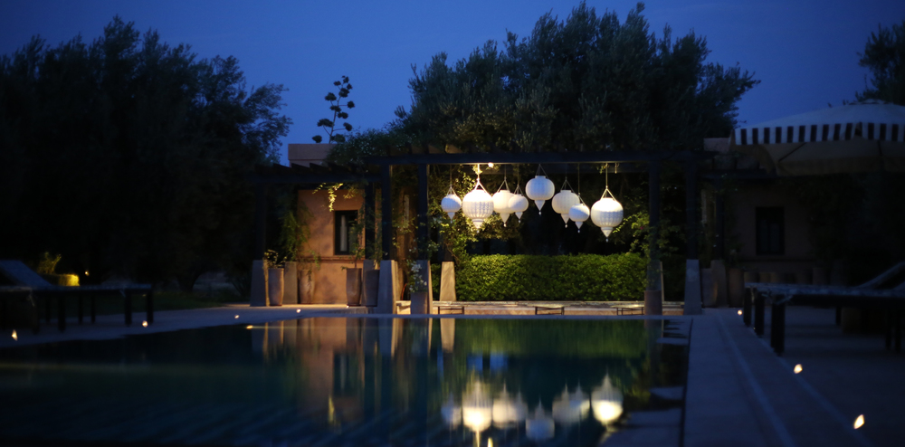 M.Montague - Tribal Chic for the Modern Nomad - The pool at Peacock Pavilions, Marrakech, Morocco