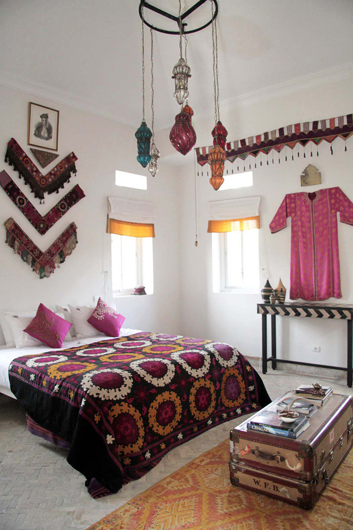 M.Montague - Tribal Chic for the Modern Nomad - Sufi Seamstress room at Peacock Pavilions, Marrakech, Morocco