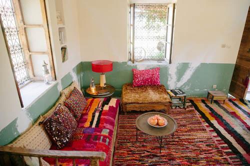 Vintage Moroccan Boujad Rug 2895