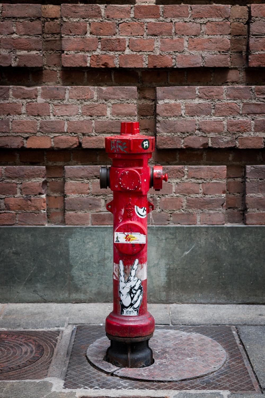 red rosso idrante torino Italia