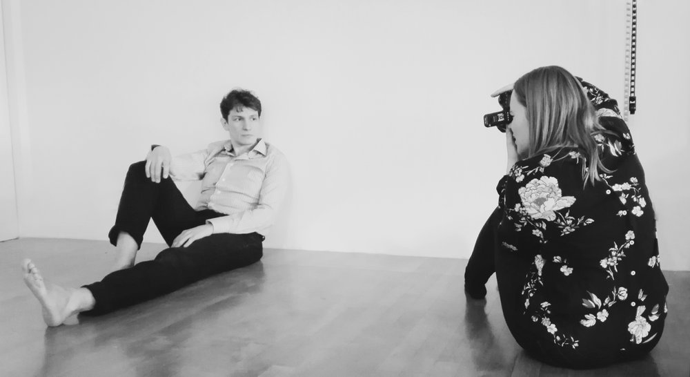 Behind the scenes photoshoot