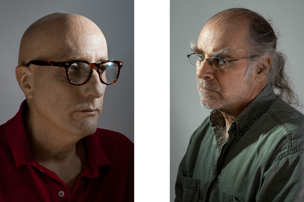 Portraits of two middle aged men with glasses