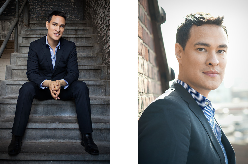 Portraits of Asian man wearing a suit