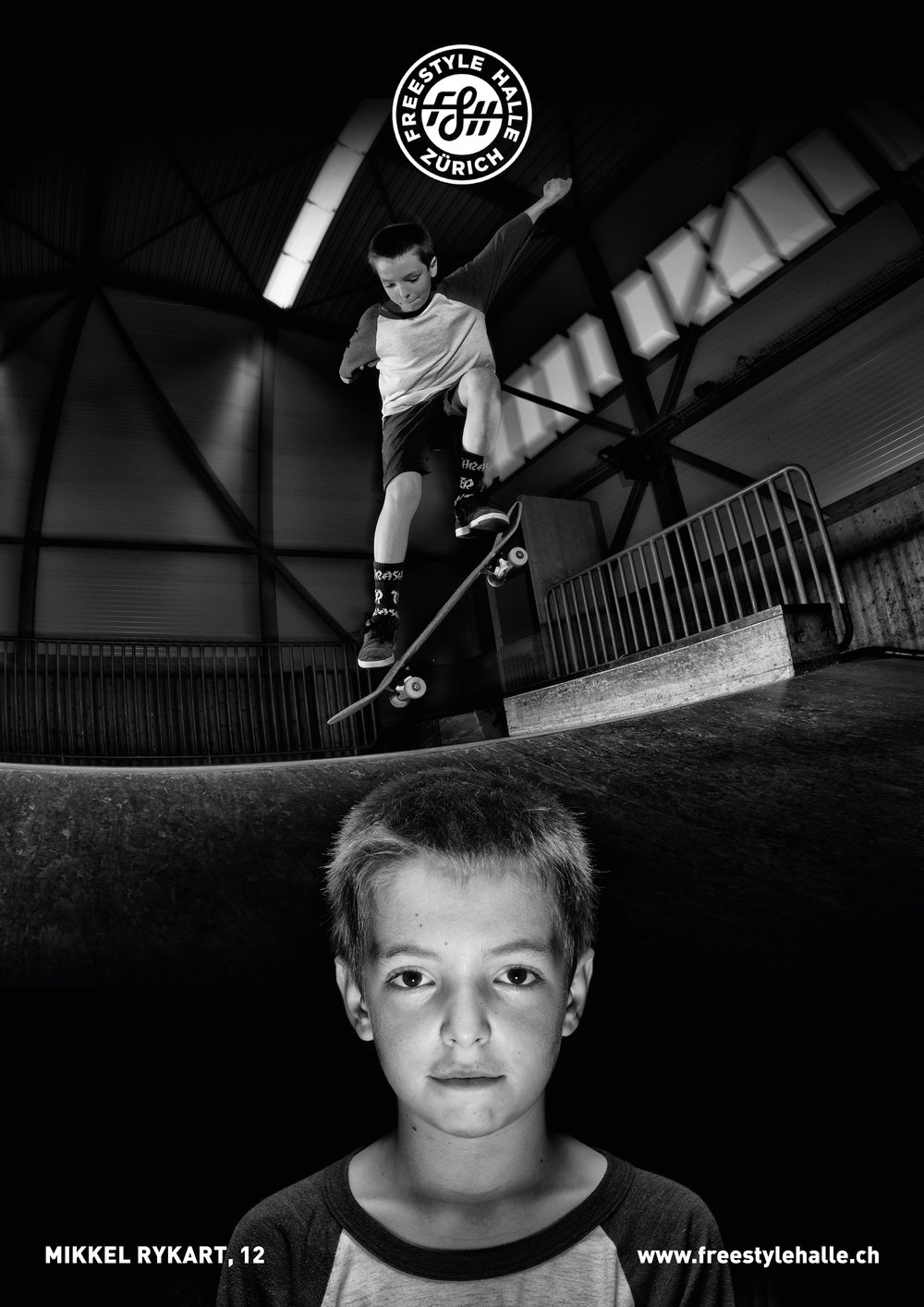 """LOCAL""  fotoseries by 📸@peterrauch  featuring the creatures of the freestylehalle biotope-  today: name mikkel rykart how old are you? wie alt bist du? 12 at what age did you start skating? in welchem alter bist du das erste mal geskatet? 9 where are you from? woher kommst du? swiss, denmark what do you get out of skating? was gibt dir skaten? lots of nice people and new friends vil netti lüt und neui kollege are you member of a skate crew? bist du in einer crew? jes, shredders! favorit trick? lieblings trick? shove it and fakie bigspins   #freestylehalle #fshzh #local #zurich #skateboarding #biodiverisityofskateboarding"