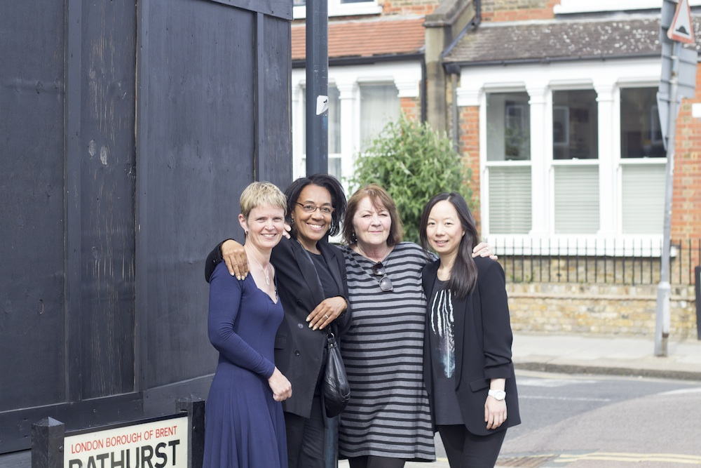 Left to right: Uplift COO Karen Ellis; FKRL Trustee Pam Clark, FKRL Chairwoman Margaret Bailey and Uplift Architect Shirley Leung.