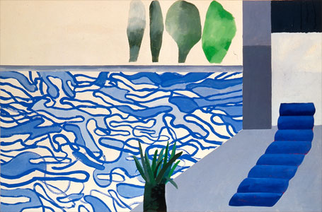 Hollywood Pool by David Hockney