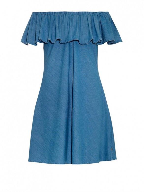 Alexa Chung for AGThe Honey Off-the-Shoulder Denim Dress($284)