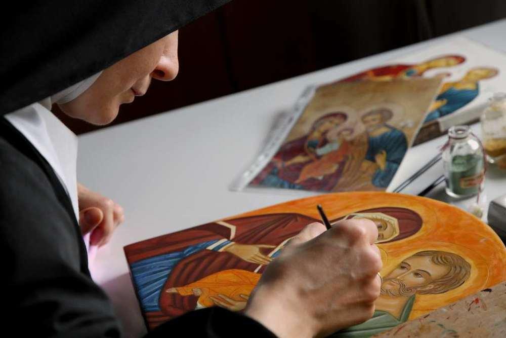Laboratorio delle icone al monastero di Orta San Giulio