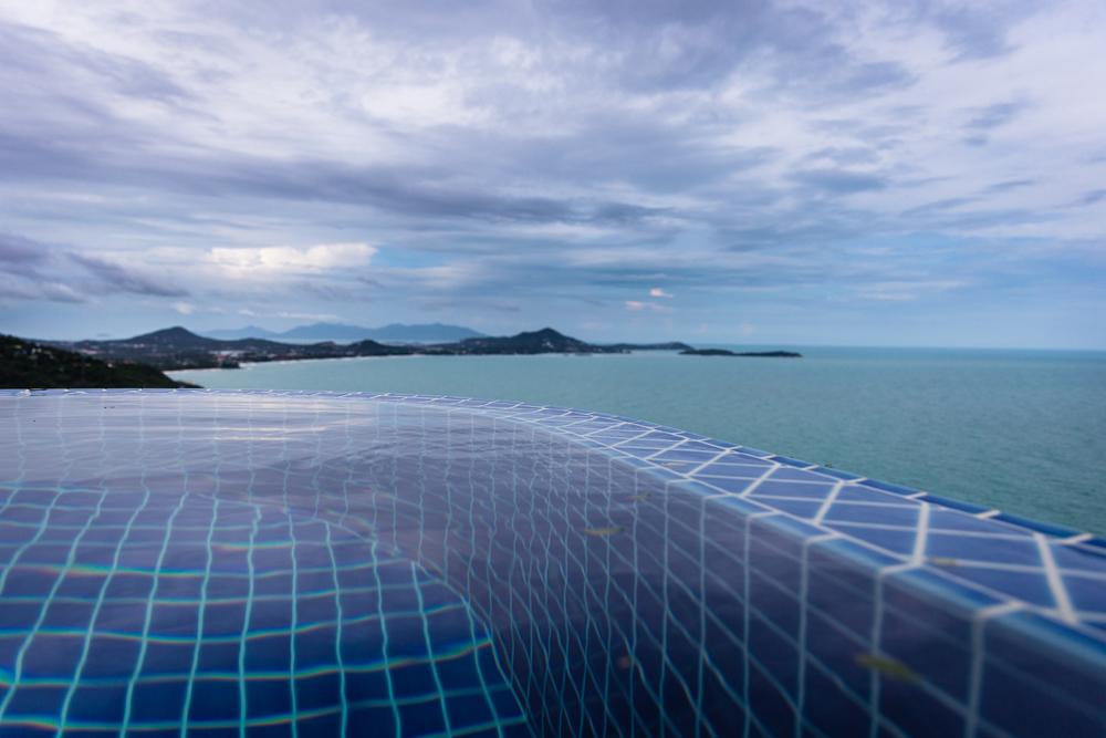 The infinity pool overlooking Chaweng
