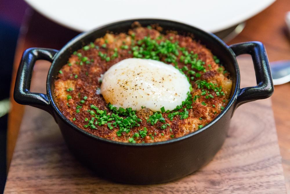 Wild Mushroom Macaroni with Slow Cooked Hens Egg