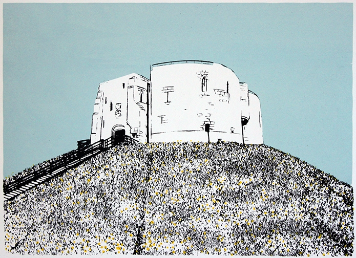 Clifford's Tower with Daffodils