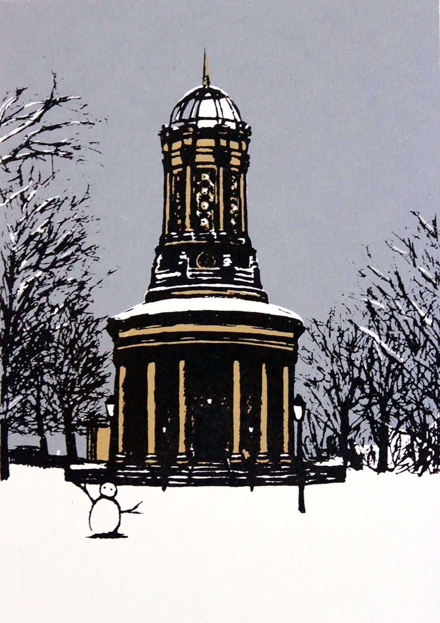 Saltaire Methodist Church in the Snow